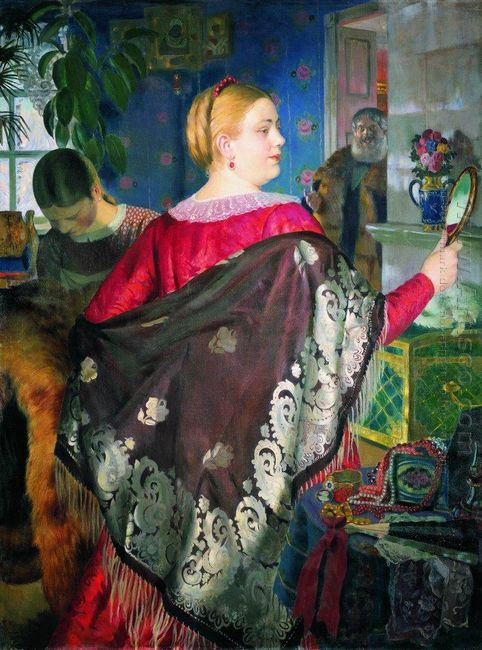 Merchant S Woman With A Mirror 1920
