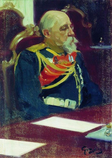 Portrait Of A Governor General Of Finland N I Bobrikov 1903