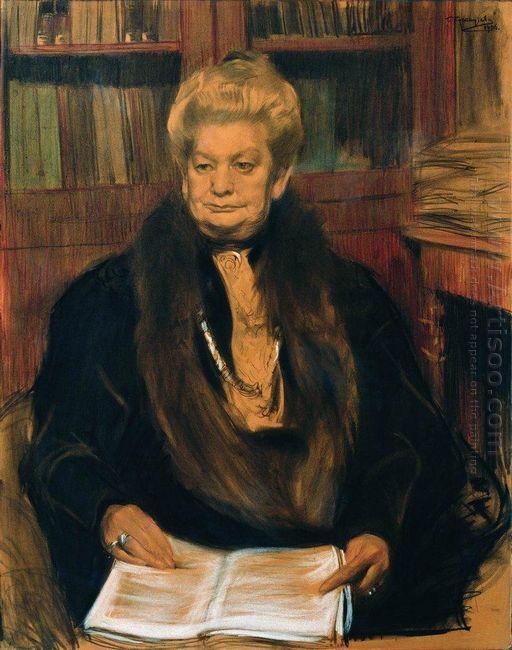 Portrait Of A Writer Alexandra Vasilevny Schwartz 1906