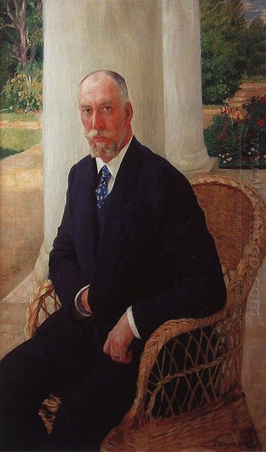 Portrait Of Baron N K Fon Mecca 1912