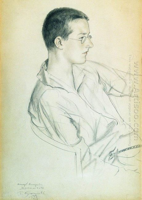 Portrait Of Composer Dmitri Shostakovich In Adolescence 1923