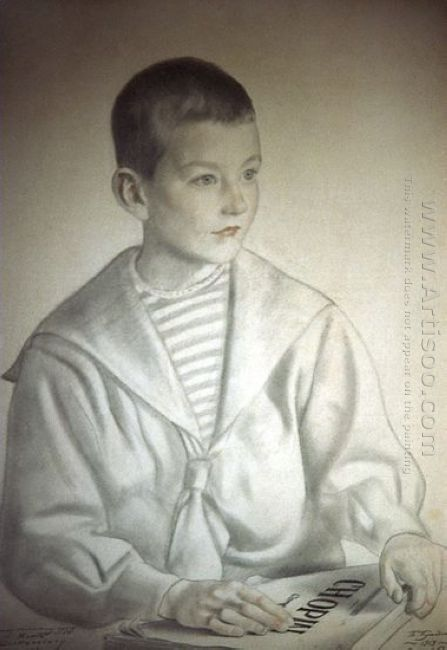Portrait Of Dmitri Dmitrievich Shostakovich As A Child 1919