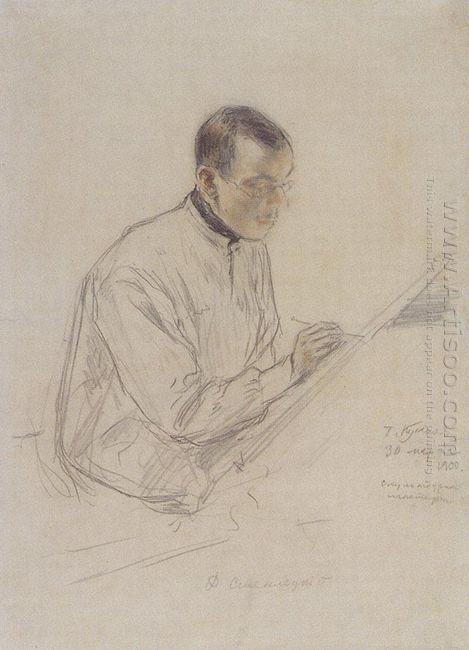 Portrait Of D S Stelletsky At Work 1900