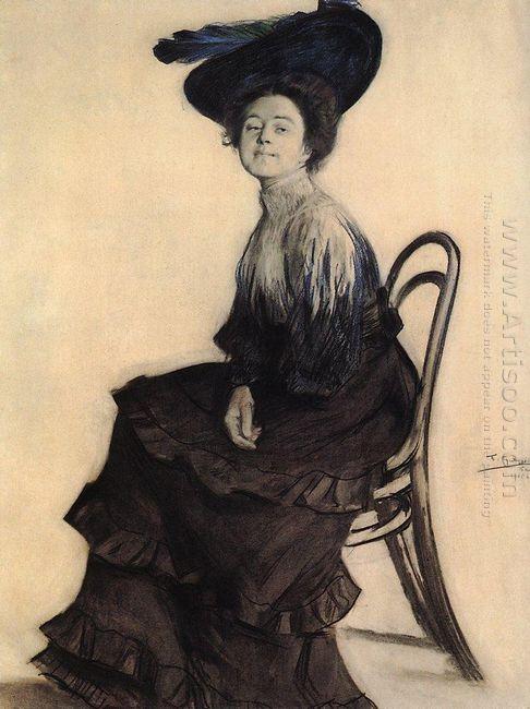 Portrait Of E A Polevitskaya 1905