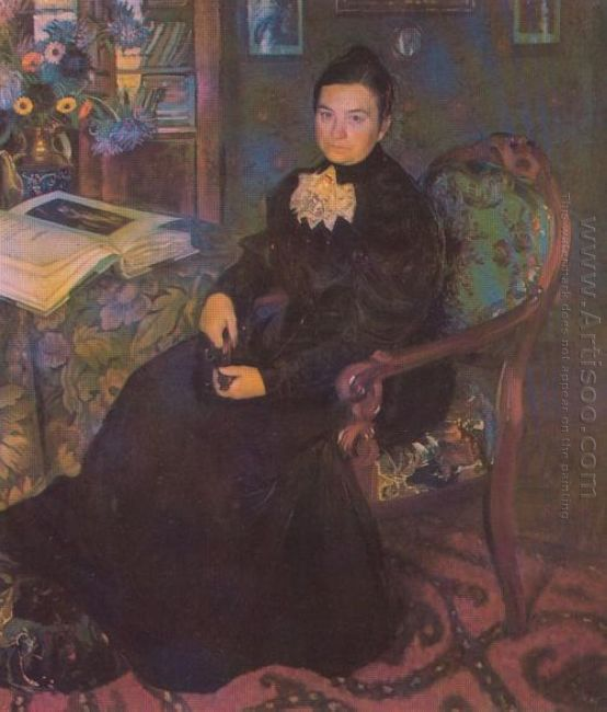 Portrait Of E Kustodieva Artist S Mother