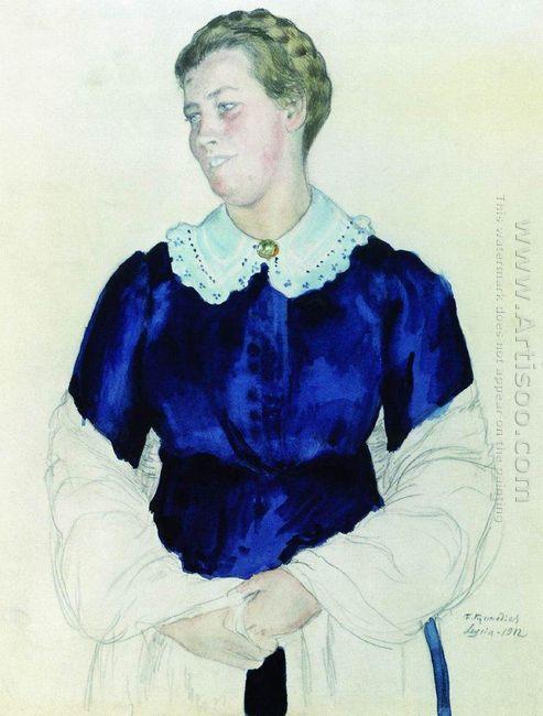 Portrait Of Elizabeth Mikhailovna Botkina 1912