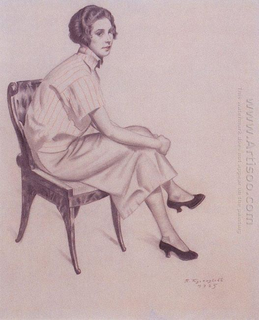 Portrait Of Evdokimova 1925