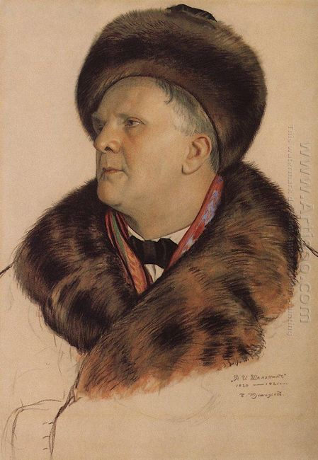 Portrait Of F I Chaliapin 1921