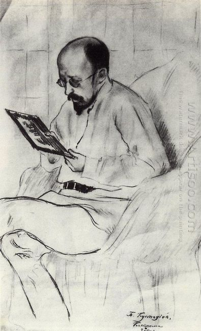 Portrait Of I A Ryazanovsky 1914