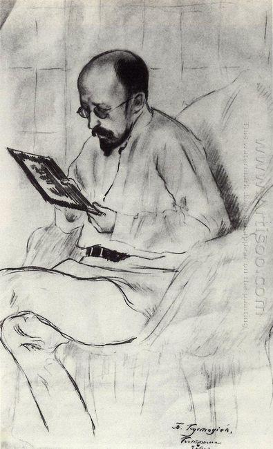 Portrait Of I A Ryazanovsky 1914