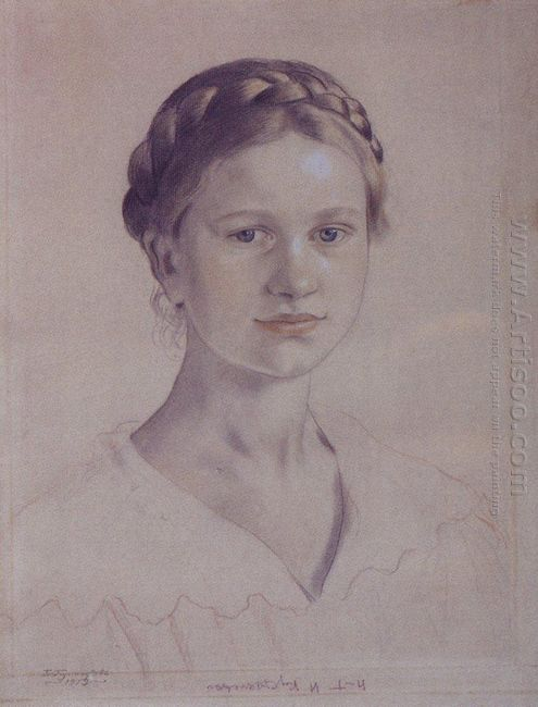 Portrait Of I B Kustodieva Daughter Of The Artist 1919