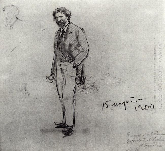Portrait Of Ilya Repin 1900