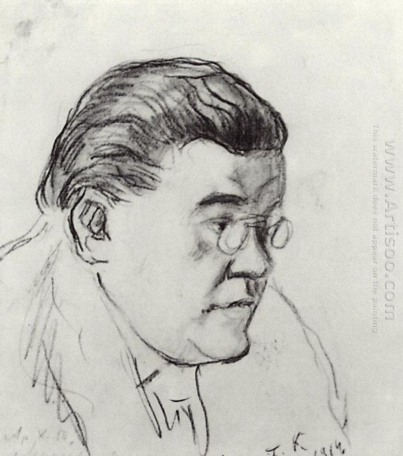 Portrait Of Ivan Moskvin 1914