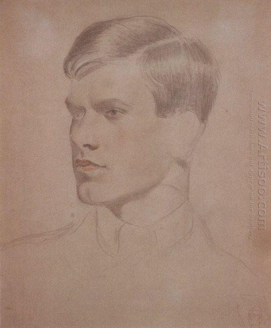 Portrait Of K B Kustodiev 1921