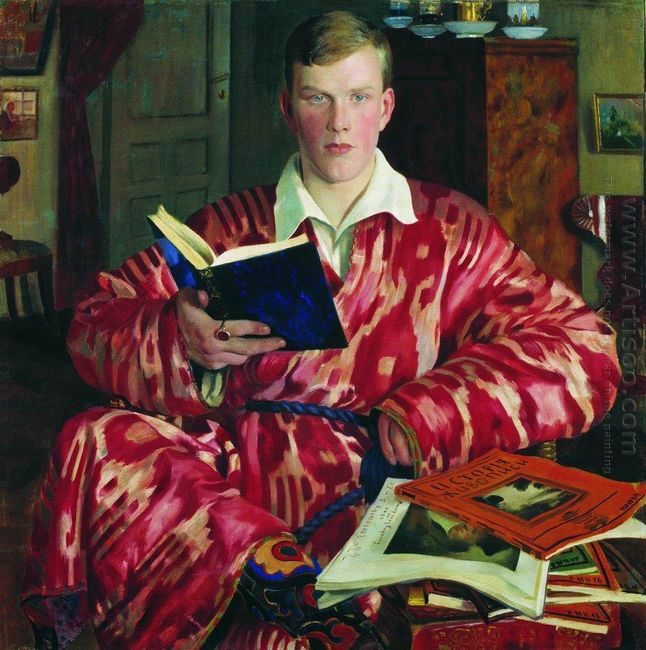 Portrait Of K B Kustodiev 1922