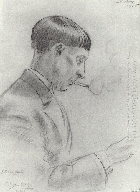Portrait Of K N Sapunov 1915
