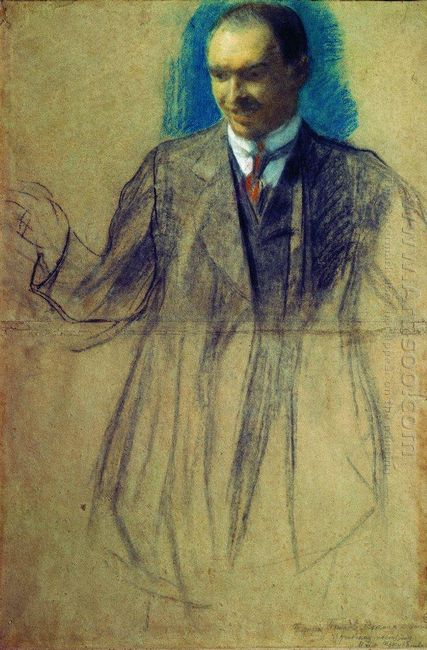 Portrait Of K S Petrov Vodkin 1905