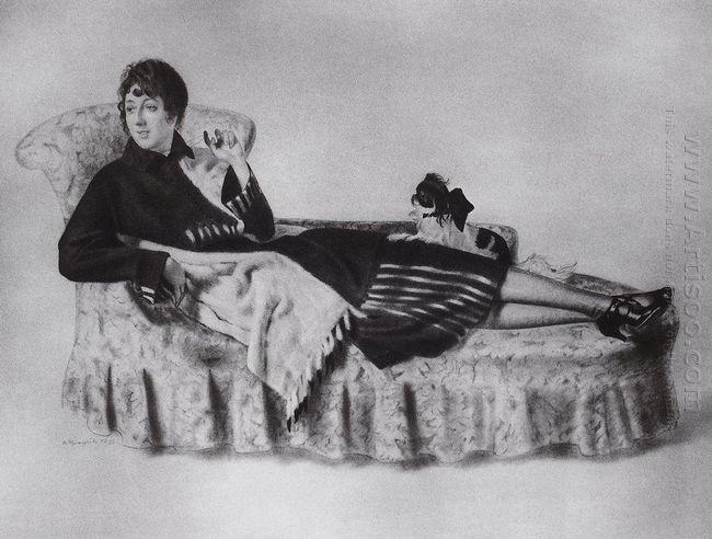 Portrait Of Maria Ryazantseva 1922