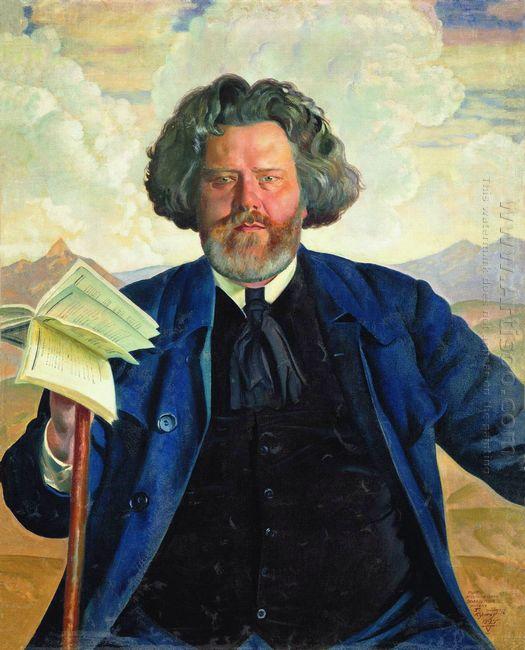 Portrait Of Maximilian Voloshin 1924
