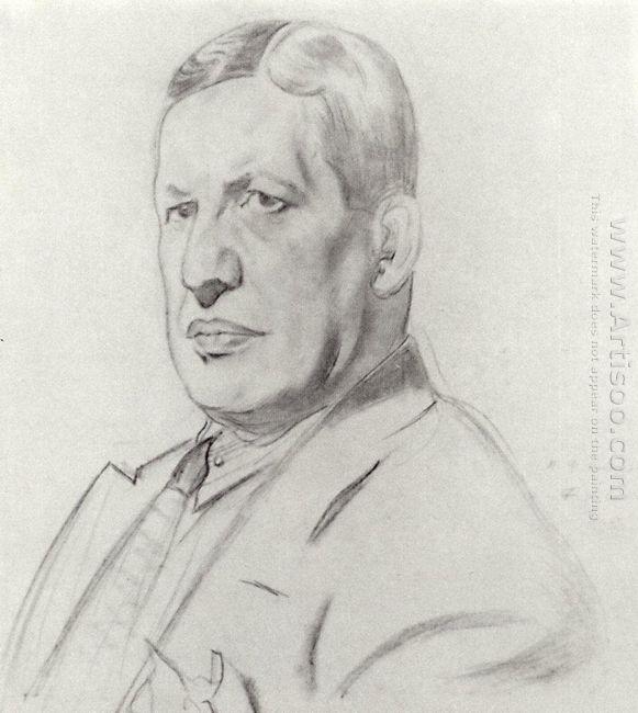 Portrait Of Nikolay Monakhov 1926