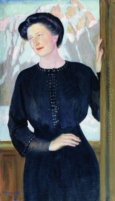 Portrait Of N I Zelenskaya 1912