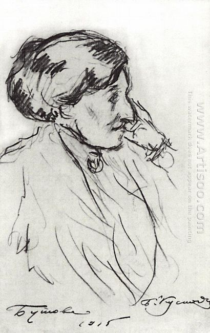 Portrait Of N S Butova 1915