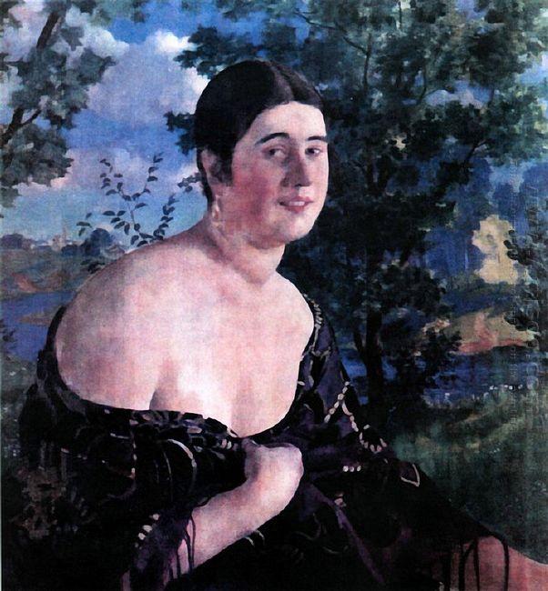 Portrait Of O I Szymanowskaya 1920