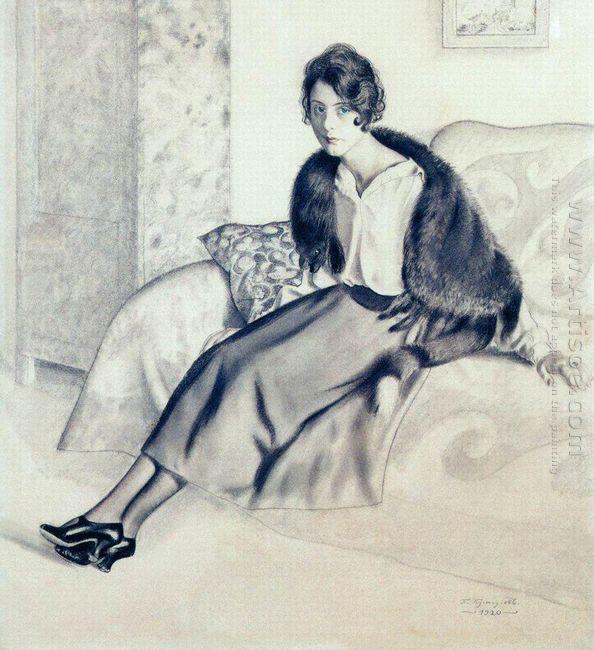 Portrait Of O P Myasoedova 1920