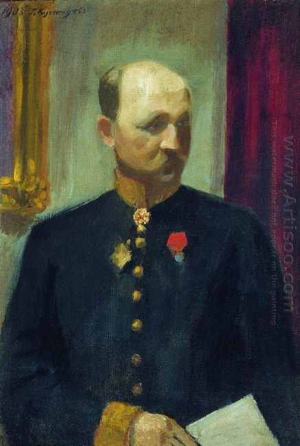 Portrait Of Public Servant Nikolai Nikolayevich Korevo 1903