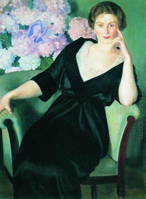 Portrait Of Rene Ivanovna Notgaft 1914
