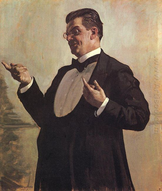 Portrait Of Russian Actor Vasily Luzhsky 1913