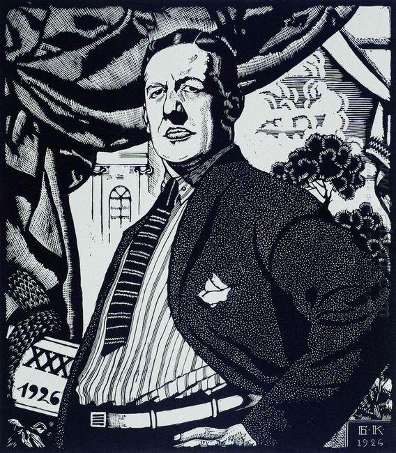 Portrait Of Soviet Actor Nikolay Monakhov 1926
