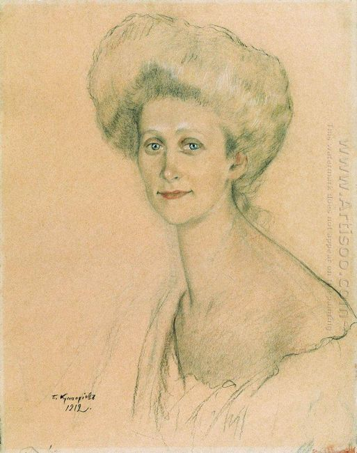 Portrait Of T F Davydova 1912