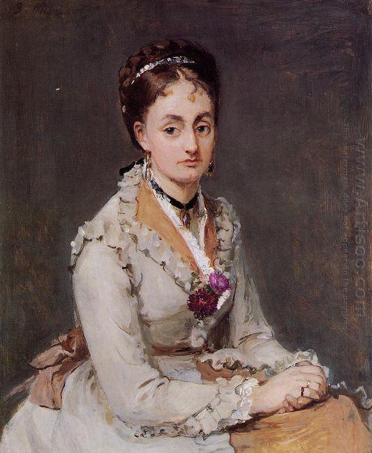 Portrait Of The Artist S Sister Mme Edma Pontillon C 1872 75