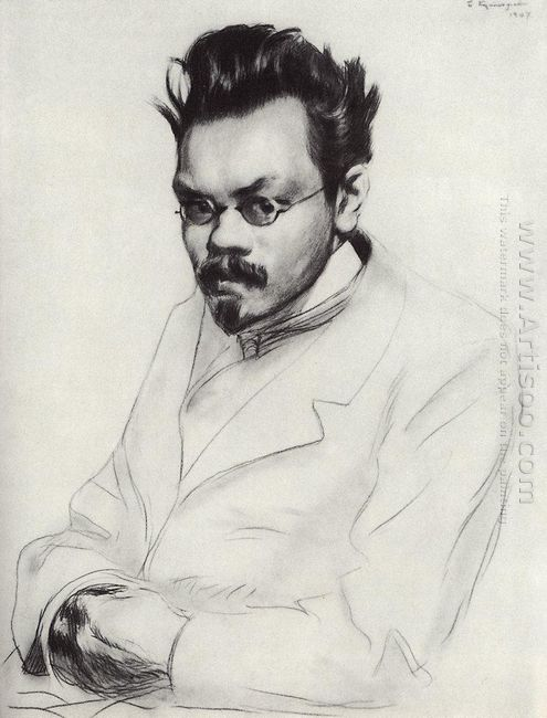 Portrait Of The Writer A M Remizov 1907