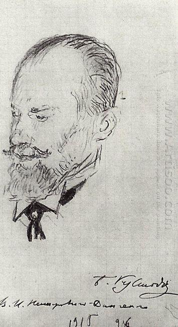Portrait Of Vladimir Nemirovich Danchenko 1915