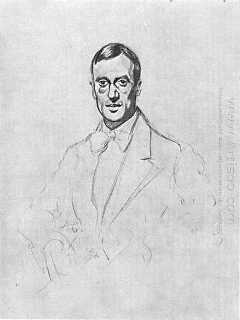 Portrait Of Vsevolod Voinov 1921 1