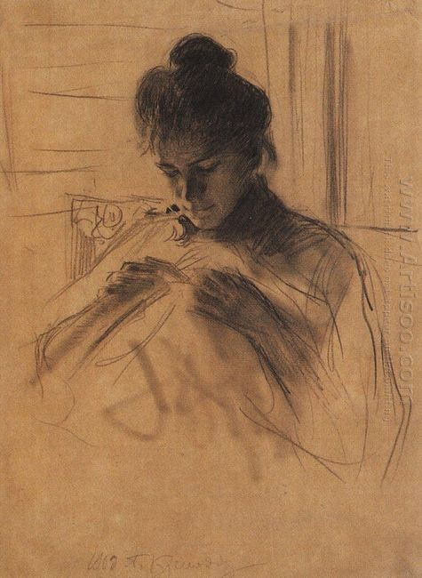 Portrait Of Y E Kustodieva 1903