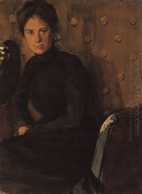Portrait Of Y E Kustodieva 1907