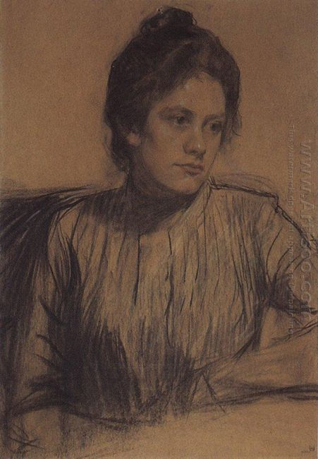 Portrait Of Y E Proshinskaya 1901