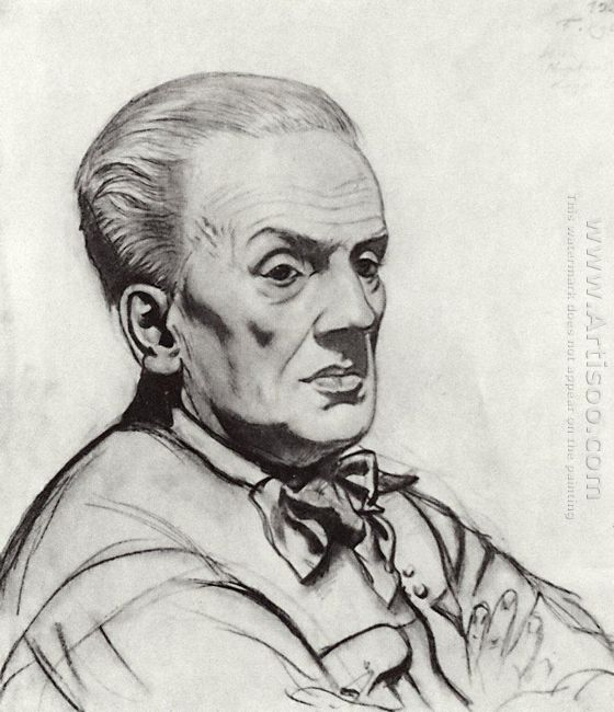 Portrait Of Yuri Korvin Krukovsky 1926