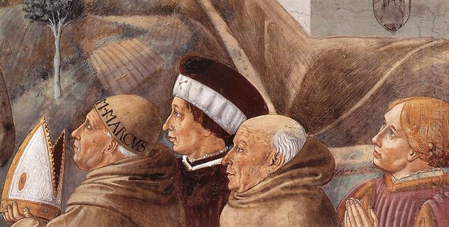 Preaching To The Birds And Blessing Montefalco Detail