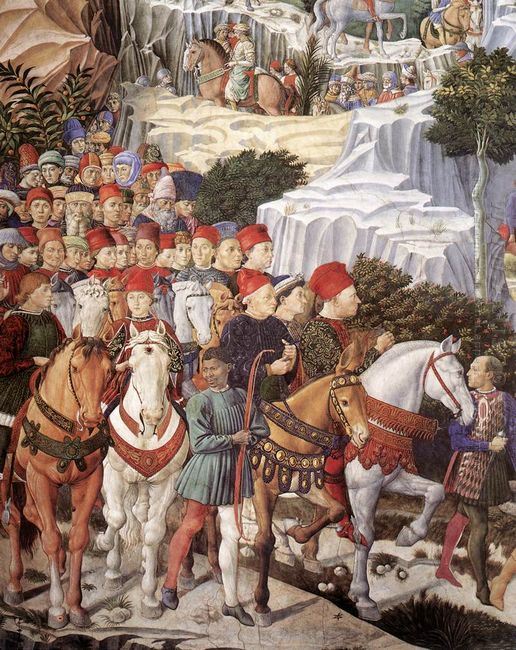 Procession Of The Magus Balthazar Detail 1461 2