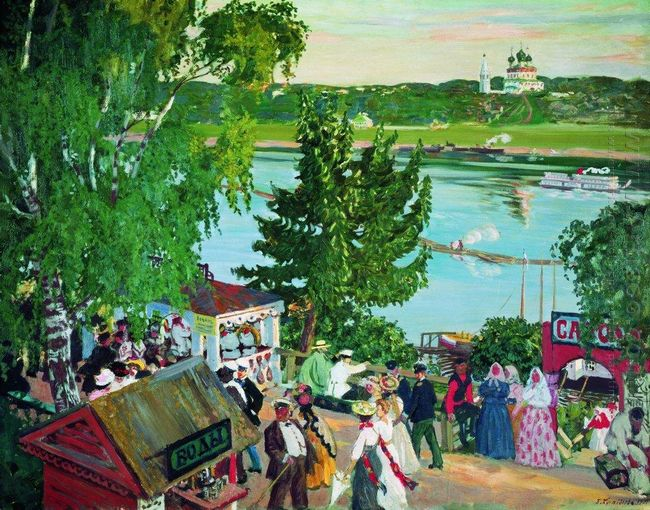 Promenade Along The Volga 1909