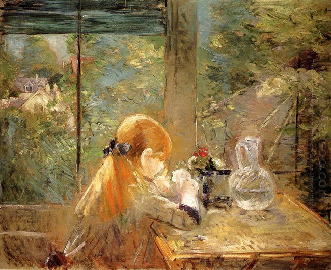 Red Haired Girl Sitting On A Veranda 1884