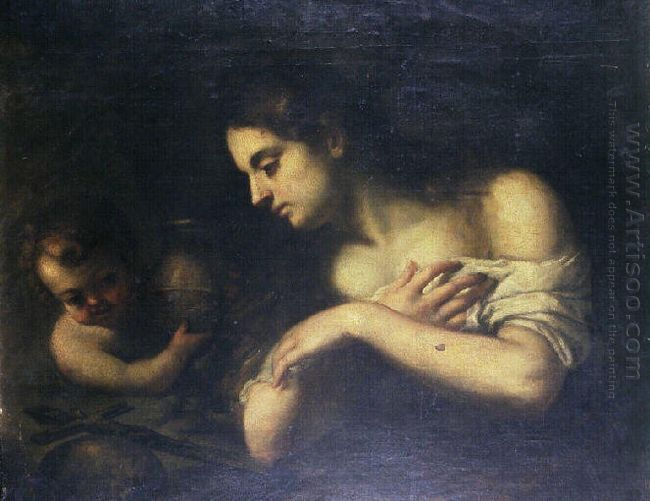 Repentant Magdalene With An Angel