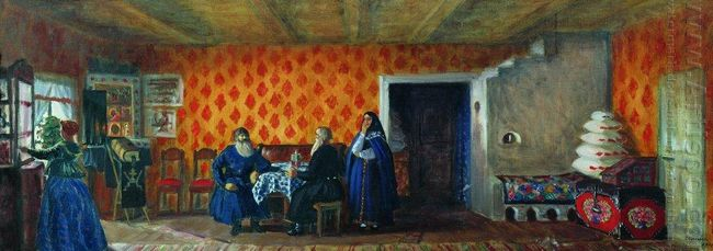 Room In The House Of Prokofy Pazukhin 1914