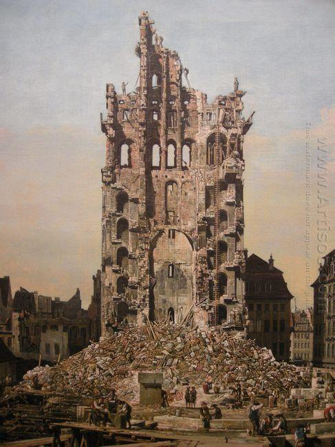 Ruins Of Dresden S Kreuzkirche 1765
