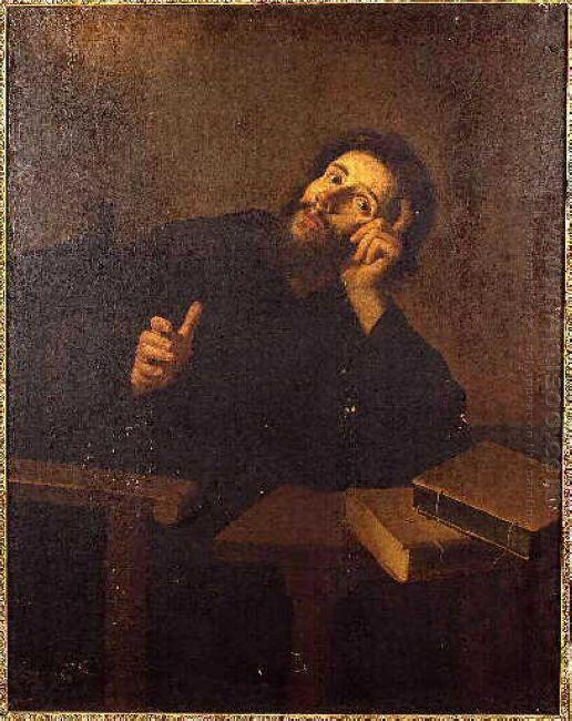 Saint Augustine In Meditation