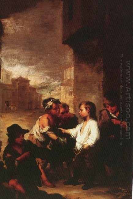 Saint Thomas Of Villanueva Dividing His Clothes Among Beggar Boy